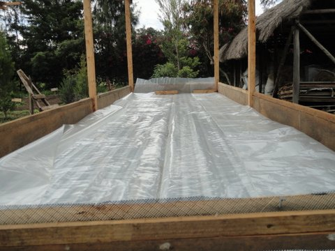 Vermi compost bed in construction